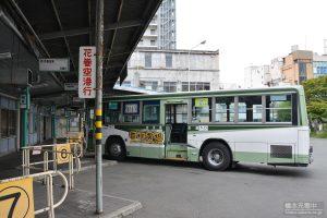 盛岡バスセンター 停車中のバス