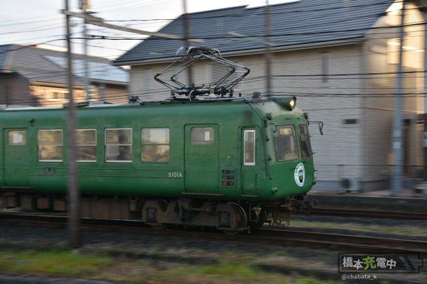 熊本電鉄5000形 北熊本-坪井川公園 2016-01-31