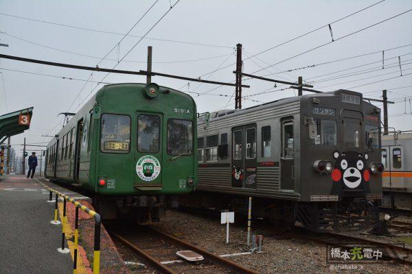 熊本電鉄5000形&6000形 北熊本 2016-02-01