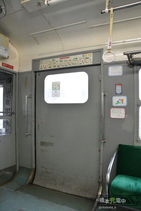 熊本電鉄5000形 ドア 2016-02-01