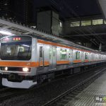 E231系武蔵野線色MU2編成 試運転で八王子へ入線