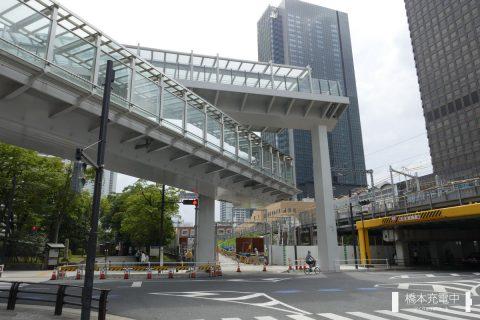 浜松町駅手前で途切れている歩行者デッキ