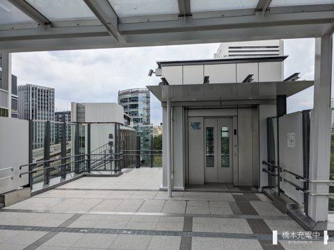 東京ポートシティ竹芝 歩行者デッキ エレベーター
