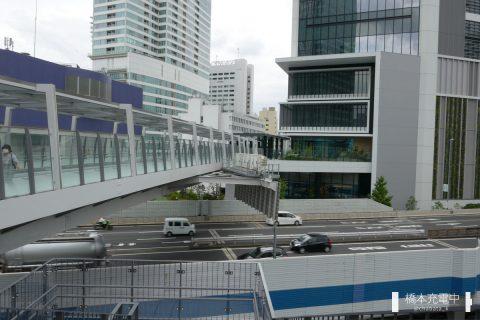 東京ポートシティ竹芝 歩行者デッキ 首都高都心環状線を超える